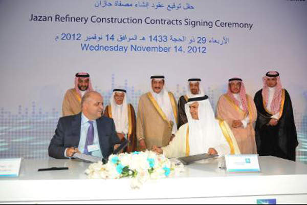 Major contracts for the Jazan Refinery and Terminal Project were awarded in November 2012. Image courtesy of Saudi Aramco.
