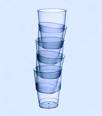 Uses of styrene monomer (SM): lightweight drinks cups, which are made of crystal polystyrene, are among the many everyday objects derived from styrene. Shell chemicals companies are among the world's leading styrene manufacturers. (photos courtesy of Shell Chemicals)