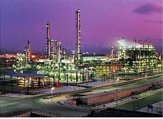 View of the Bandar Iman Plant