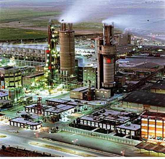 View of the Bandar Iman Plant.