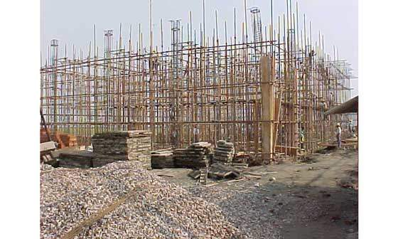 One of the buildings at the Nantong site under construction.