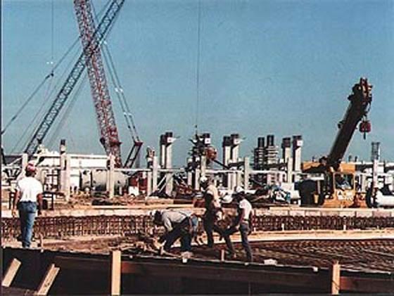 Construction of the Port Arthur steam cracker.