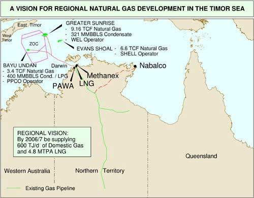 The Methanex methanol plant was to be on the northern coast of Australia.
