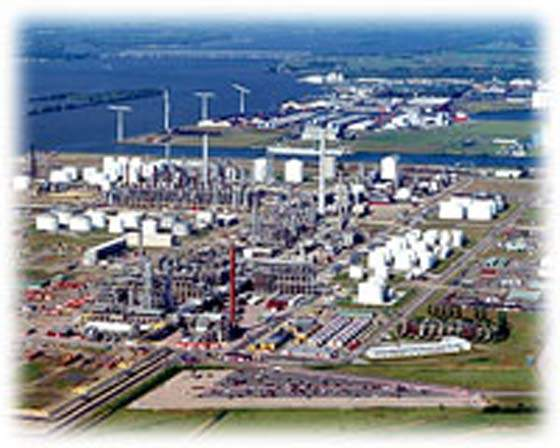 Moerdijk (in North Brabant) is the site of a major Shell petrochemical plant in the southern part of the Netherlands.