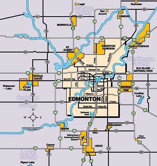 Fort Saskatchewan is close to Edmonton, in western Canada.