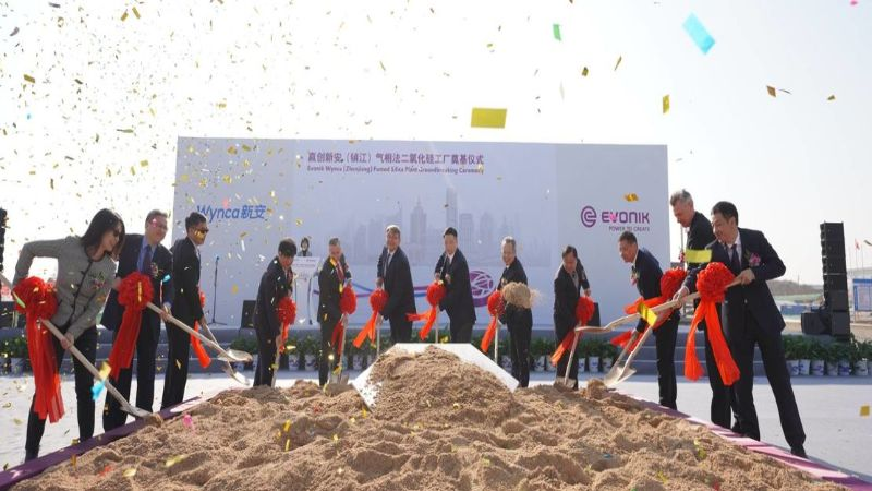 Evonik and Wynca begin construction of silica plant in China