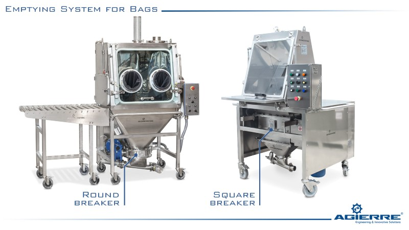 emptying system for bag