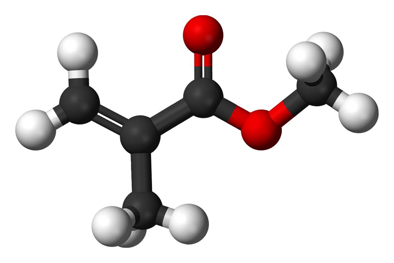 Methyl-methacrylate-3D-balls