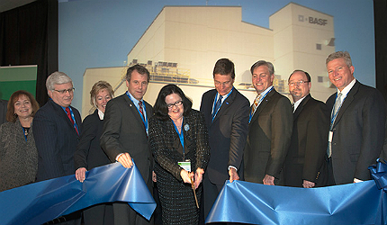 BASF broke ground for the new production plant in October 2010
