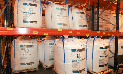 Alphapor EPS is used in building insulation