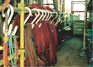 Using these Safety Hooks makes it extremely easy to suspend cables, electrical wires, hoses, and other work lines.